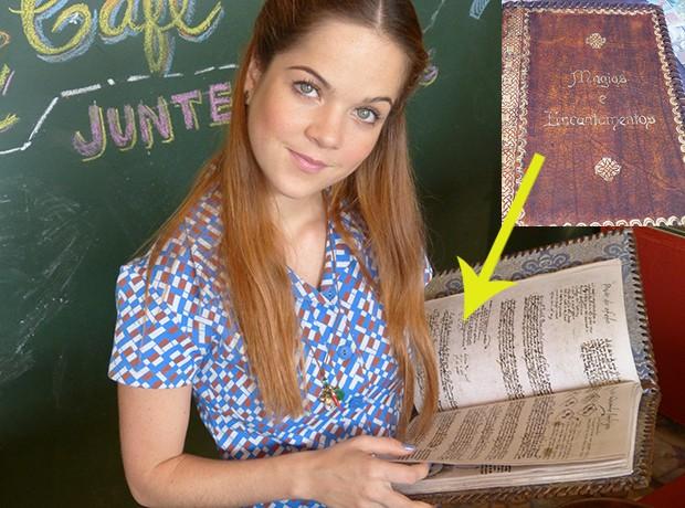 morgana e livro de magia (Foto: TV globo/Malhação)