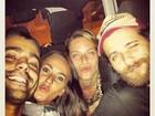 Bruno Gagliasso, Giovanna Ewbank e Ricardo Pereira posam juntos
