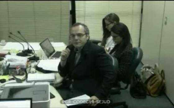 Trecho do vídeo da delação do operador Lúcio Funaro (Foto: Reprodução)