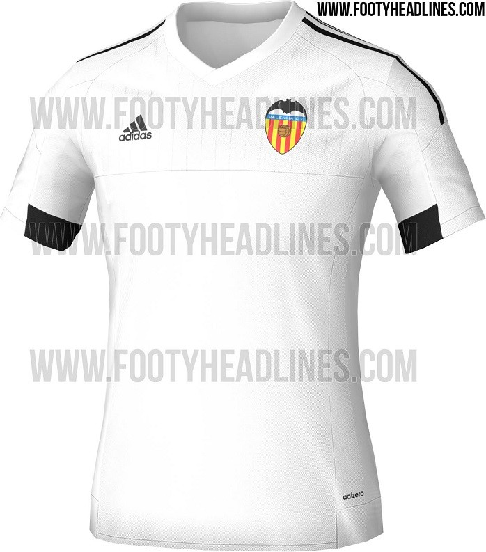 Camisa titular Valencia temporada 2015/16