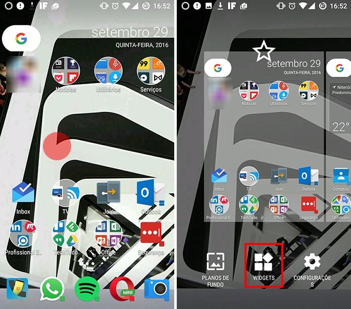 OneDrive para Android pode ter atalho para pasta fixado como widget (Foto: Reprodução/Elson de Souza)