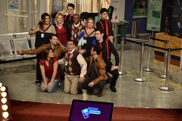 Elenco do programa Tomara que caia (Foto: Roberto Teixeira/EGO)