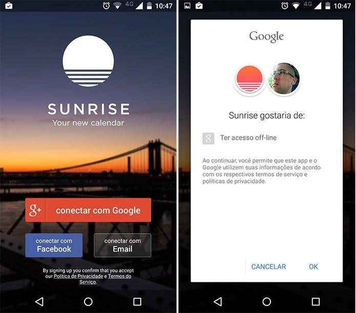 Primeira ação é sincronizar com a agenda do Google (Reprodução)