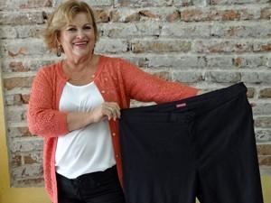 Aurenice comemora os 27 kg a menos (Foto: Arquivo pessoal/Aurenice Accioly Lins)