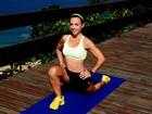Carla Marins mostra o treino preparado pelo marido personal trainer