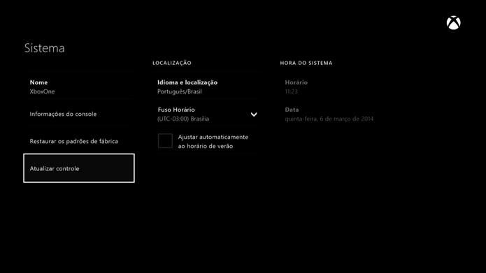 Xbox One: aprenda a atualizar o seu controle (Foto: Reprodução/Murilo Molina)