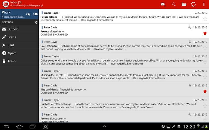 my Secure Mail é um gerenciador seguro de contas de e-mail para Android (Foto: Divulgação)