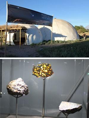 Museu de meteoritos (Foto: Dennis Barbosa/G1)
