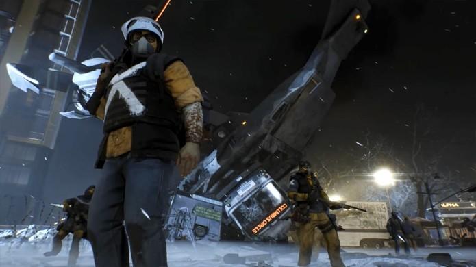 Em nova atualização Conflito de The Division um grupo de Rikers tomou o espaço aéreo de Manhattan e cabe a você derrubá-los (Foto: Reprodução/YouTube)