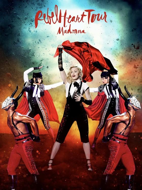 A capa do DVD da Rebel Heart Tour, que chega às lojas e plataformas digitais dia 15 de setembro (Foto: Reprodução)
