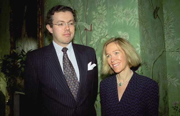 Hans Kristian Rausing e Eva em 26 de novembro de 1996 em Londres (Foto: AP)