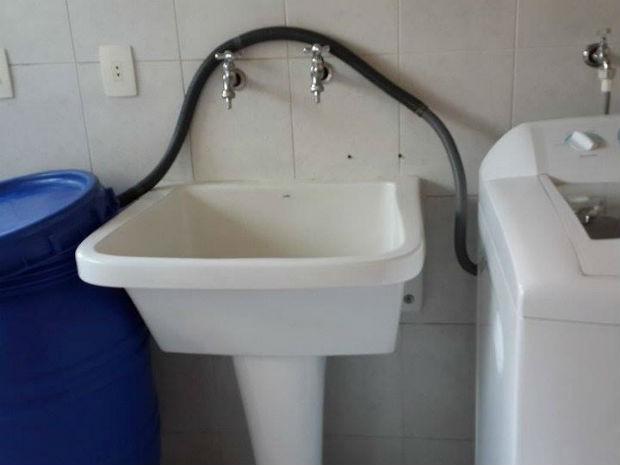 Moradores de Itu e Sorocaba usam criatividade para economizar água  (Foto: Arquivo pessoal/ Sueli Moltocaro)