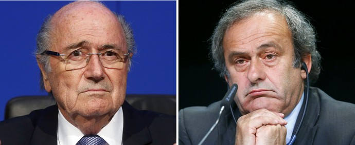 Montagem Joseph Blatter e Michel Platini (Foto: Reuters)