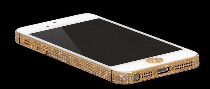 O The Million Dolar iPhone é cravejado de 700 diamantes (Foto: Reprodução/ABCNews)