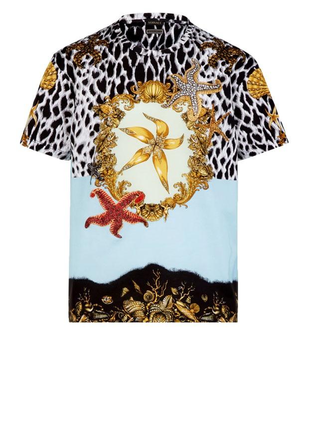"""Camisetas Versace coleção """"Tributo"""" (Foto: Divulgação)"""
