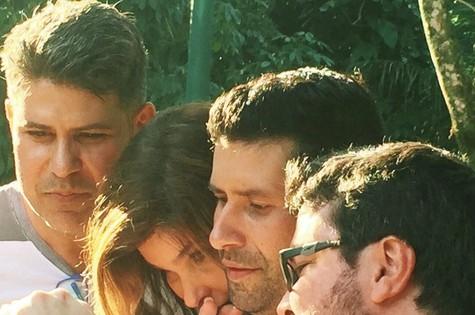 Cacau Hygino, Cristiana Oliveira e os diretores Halei Rembrandt e Sérgio Wolp (Foto: Arquivo pessoal)