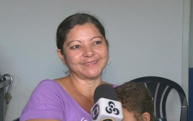 Maria Aparecida da Silva participa do programa anitabagismo, em Ji-Paraná (Foto: Bom Dia Amazônia)