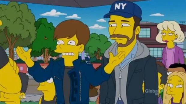 Justin Bieber nos Simpsons (Foto: Video/Reprodução)