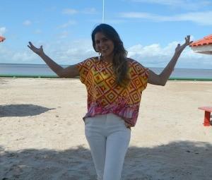 Lia afirma está feliz em voltar ao Amapá (Foto: Jorge Abreu/Rede Amazônica)