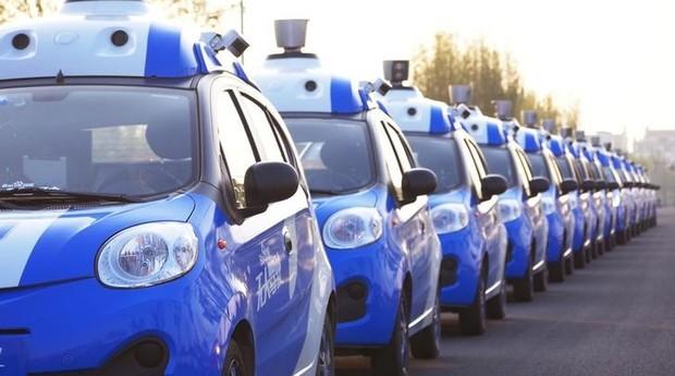 Carros autônomos da Baidu (Foto: Reuters)