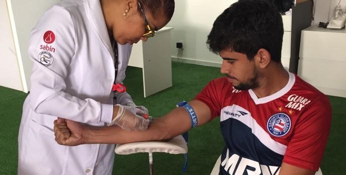 jogadores do Bahia realizam exames (Foto: Divulgação / E.C. Bahia)