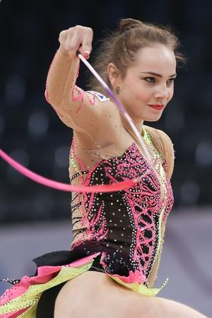 Angélica Kvieczynski fez sua melhor apresentação na fita (Foto: Ricardo Bufolin/CBG)