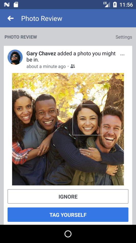 Um exemplo de notificação em que o Facebook avisa quando alguém posta uma foto em que você possa estar (Foto: Reprodução/Wired)