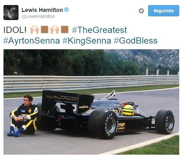 Lewis Hamilton Ayton Senna homenagem (Foto: Reprodução internet)