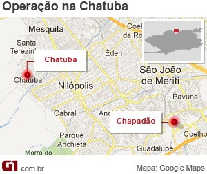 Mapa da Chatuba  (Foto: ArteG1)
