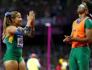Terezinha Guilhermina e Guilherme Soares 100m paralimpíadas (Foto: EFE)