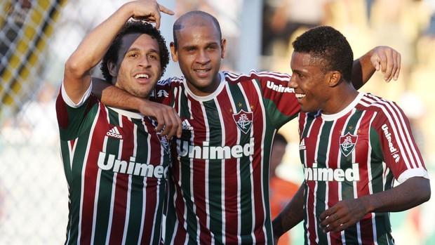 Wellington Nem Carlinhos Rhayner Fluminense x Volta Redonda (Foto: Rodrigo Ferreira / Photocâmera)