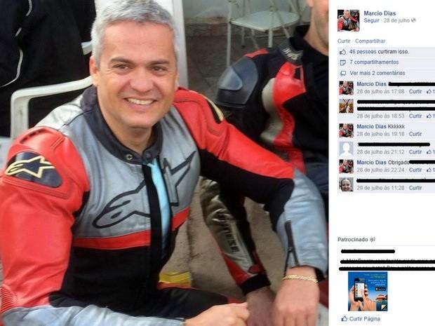 Marcio Antonio Dias está desaparecido desde terça (9) em Cosmópolis (Foto: Reprodução/Facebook)