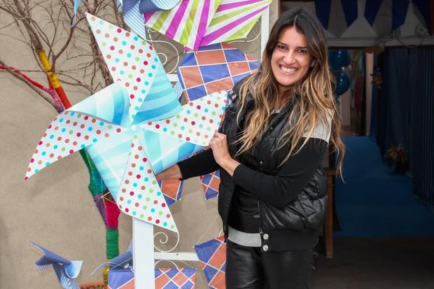 Andréa Guimarães no aniversário de Arthur, filho de Eliana (Foto: Manuela Scarpa e Marcos Ribas / Foto Rio News)