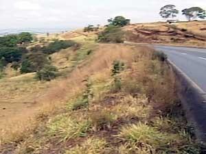 Local onde acidente foi registrado (Foto: Reprodução / TV Integração)