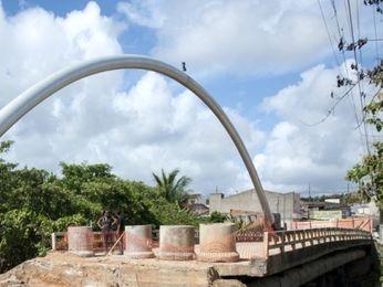 Obras não puderam ser iniciadas por conta de adutora (Foto: Reprodução/TV Sergipe)