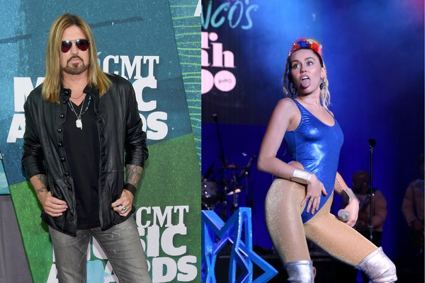 O músico Billy Ray Cyrus e sua filha, Miley Cyrus (Foto: Getty Images)