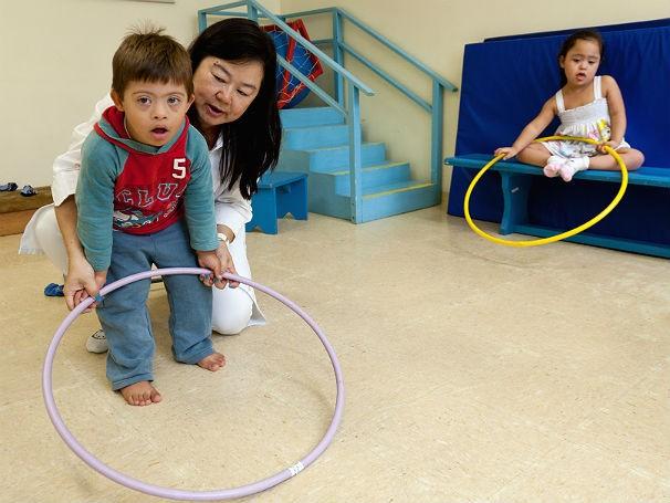 Criança na Apae-SP, dia internacional da síndrome de down (Foto: Divulgação/ApaeSP)