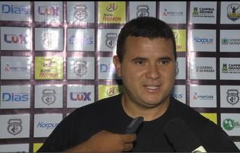 Nonato comemora empate do Treze contra seu ex-clube, o Goianésia