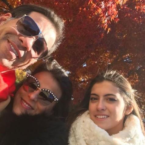 Leandro Hassum com a mulher, Karina, e a filha, Pietra (Foto: Reprodução)