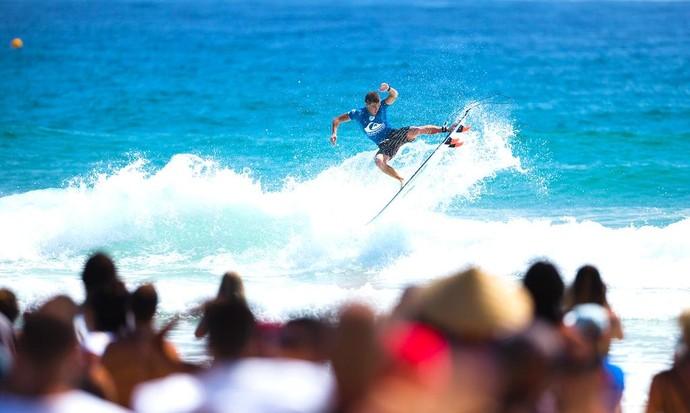 Glenn Hall em ação na repescagem da etapa de Gold Coast, Austrália (Foto: Divulgação)