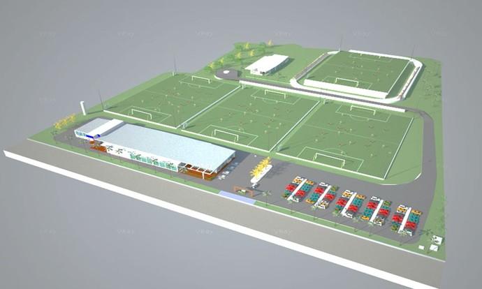 Novo Centro de Treinamento Santos (Foto: Divulgação )