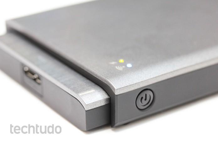 Wireless Plus conta com um hub, que você pode remover, para acesso sem fio (Foto: Pedro Cardoso/TechTudo)