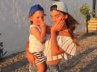 Joana Balaguer faz graça em foto fofa com o filho