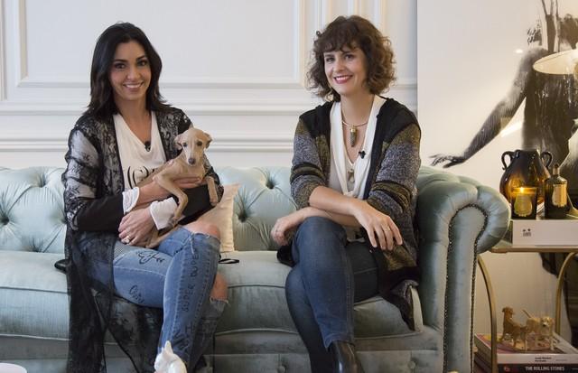 Renata Figueiredo recebe Ana Strumpf em mais um episódio de A Moda da Casa (Foto: Rafael Avancini)