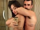 Laura Keller e Jorge Sousa fazem tatuagem de casamento em Vegas