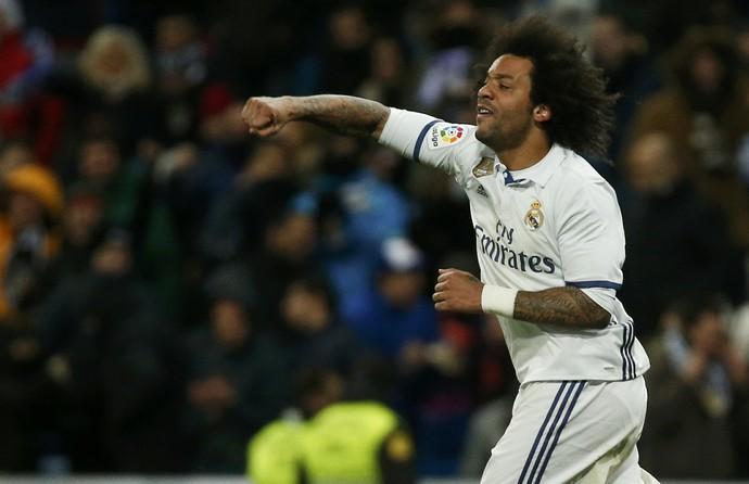 Marcelo Real Madrid x Celta (Foto: Reuters)
