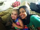 Ildi Silva visita Malu, filha de  Luiza Valdetaro: 'Amigas, hein?!'