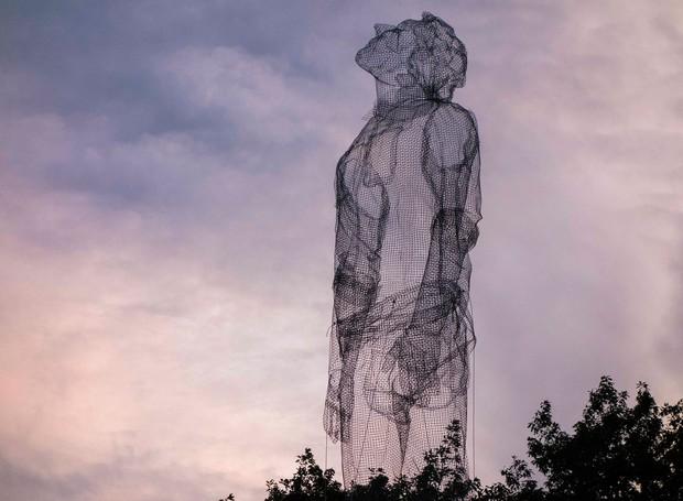 Edoardo-Tresoldi-forma-humana-malha-de-arame-1 (Foto: Reprodução/Edoardo Tresoldi)