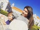 Joana Balaguer posta momento fofo com o filho Martin em Portugal