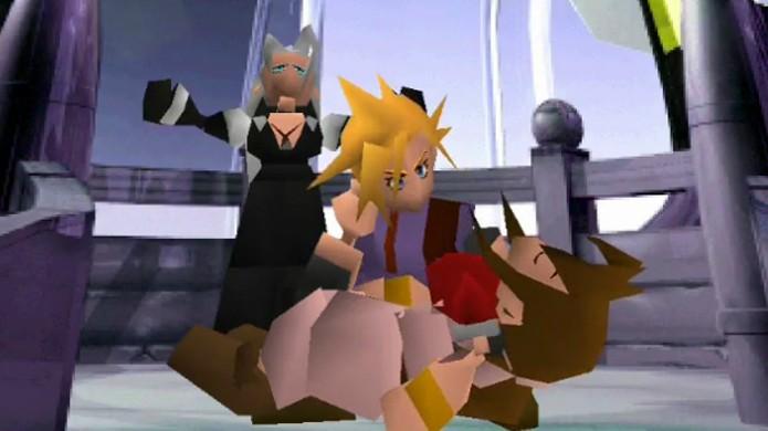 A morte de Aeris é considerada por muitos como o momento mais emocionante de Final Fantasy 7 (Foto: Reprodução/Arcade Sushi)